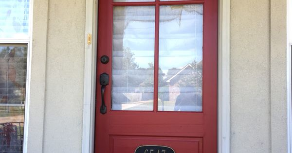 Sherwin Williams Stolen Kiss Red Front Door Patio