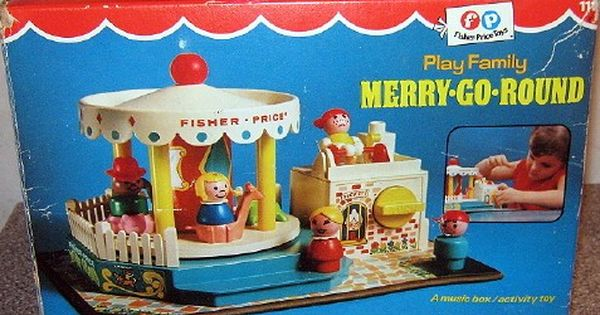 Fisher Price 1966 Play Family Merry Go Round Vintage Toys Vintage Fisher Price