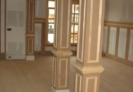 Kitchen dining room pillars carpentry trim and for Dining room designs with pillars