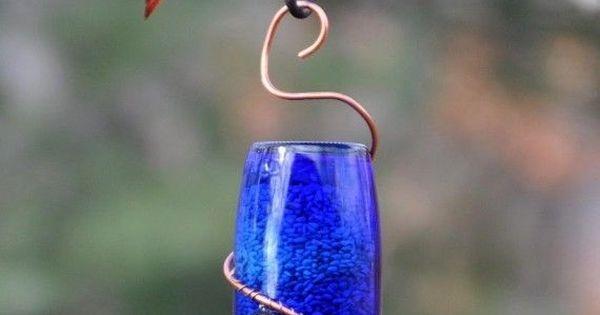 Copper, Creative and Homemade bird feeders on Pinterest