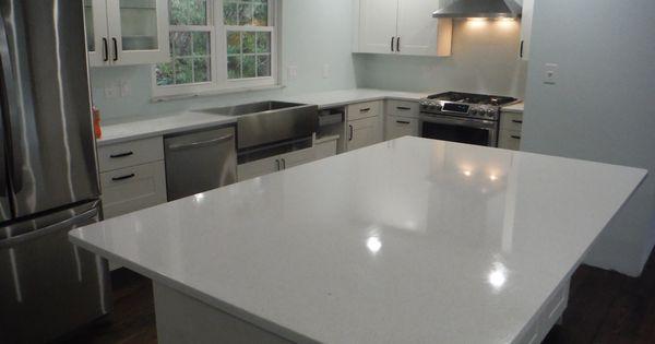 Crystal White Lg Viatera Quartz Kitchen Countertops For The Herron Family Knoxville 39 S Stone