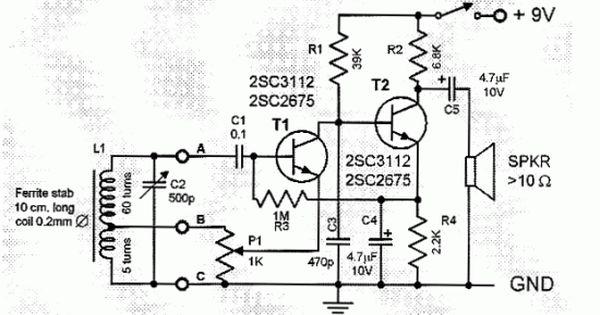 Two Transistor Am Radio Receiver Circuit Schematic Diy