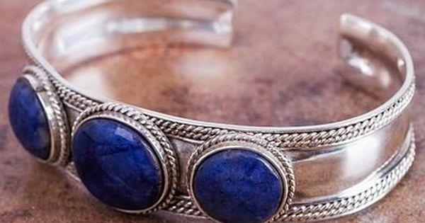 Luyu Sterling Silver /& Onyx Cuff Bracelet