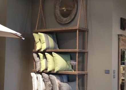 Hanging shelves, cool idea, easy and simple.