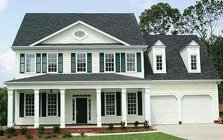 Colonial With Attached Garage Colonial House Plans Colonial