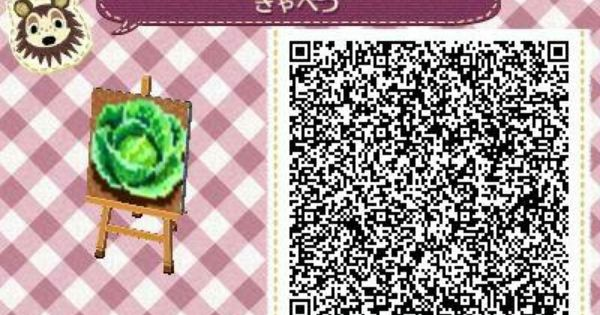 Acnl achhd qr code lettuce cabbage garden qr code acnl for Carrelage kitsch animal crossing new leaf