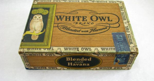 Vintage White Owl General Cigar Co Cigar Box By