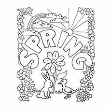 Top 35 Free Printable Spring Coloring Pages Online Spring Coloring Pages Coloring Pages Spring Crafts For Kids