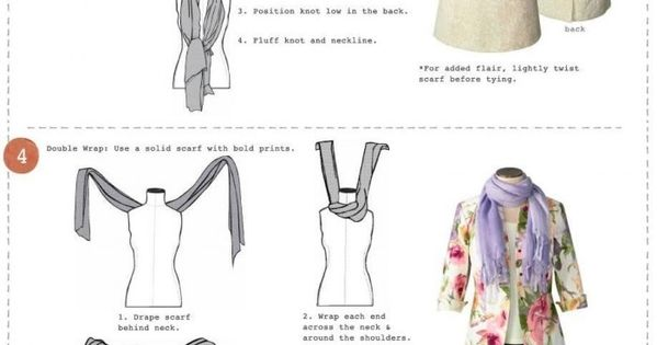 6 different ways to tie a scarf! Scarves are such a great