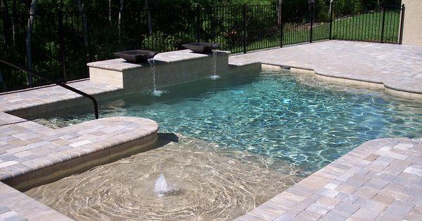 Backyard Backyards Pool Pools I Like The Small Shallow Area For The Kiddies Outside