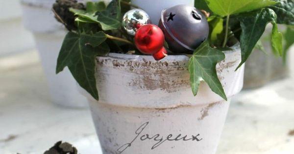 Composition florale no l pour d co de table et de l for Composition florale exterieur hiver