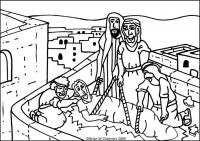Jesus Heals The Paralytic Man Flip Chart Paralyzed Man Jesus Heals Coloring Pages