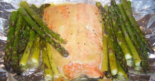 Honey Mustard Salmon and Asparagus (Foil Wrapped) | Recipe | Honey ...