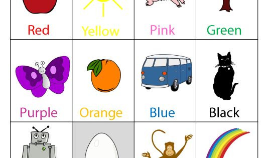 Number Names Worksheets preschool color chart : Colors, Preschool charts and Color charts on Pinterest
