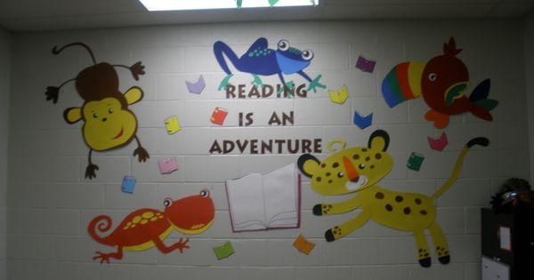 Classroom Ideas Using Cricut ~ Ocean themed jungle bulletin boards classroom