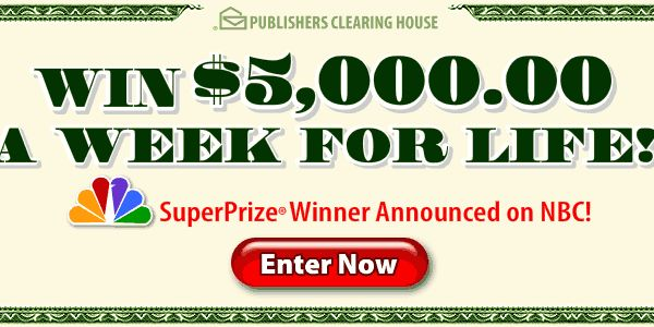 entering sweepstakes for a living publishers clearing house pch is organizing this 3670