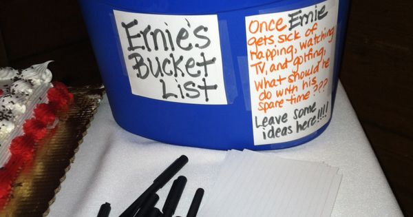 Retirement Party Bucket List