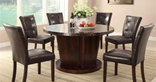 54 Silverton Round Marble Table With Chairs Marble Dining Table
