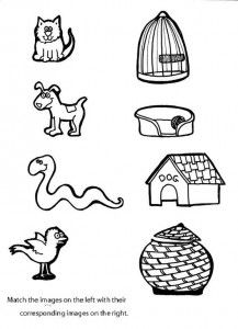 Matching Animals To Their Home Worksheet 3 Pets Preschool Preschool Tracing Preschool