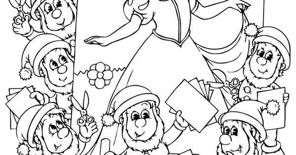 ausmalbild märchen: kostenlose malvorlage: schneewittchen