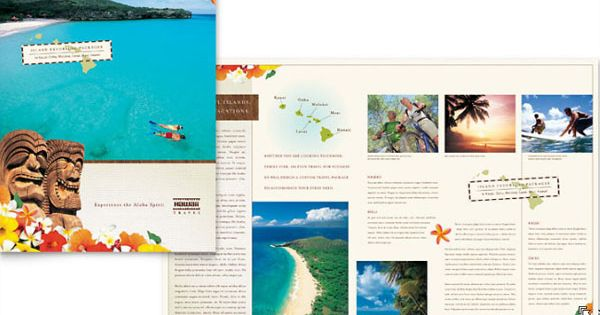 hawaii brochure template - hawaii travel vacation brochure template layouts