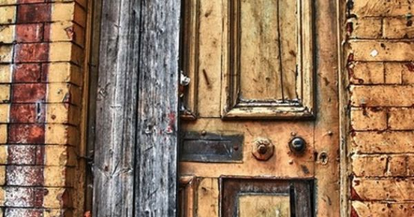 An old... old door ....secrets to the past revealed within...