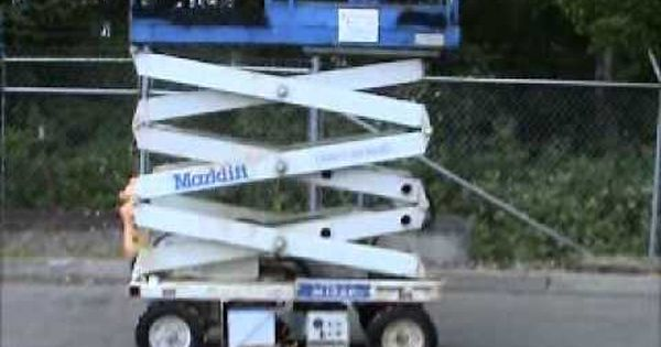 Sold! Marklift M15EP Electric 15 FT Scissor Lift Manual Extension  bidadoo.com - YouTube | KirikoPinterest