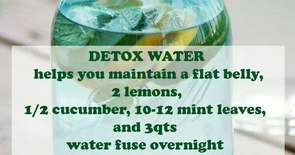 Flat Belly Overnight >> Detox water helps you maintain a flat belly 2 lemons 1/2 cucumber 10-12 mint leaves 3 qt water ...