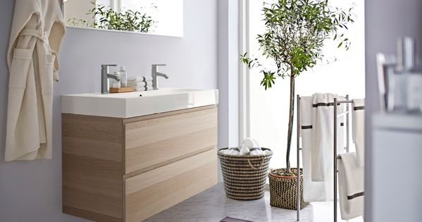 View of the bathroom with ikea godmorgon sink unit for Bathroom cabinets harvey norman