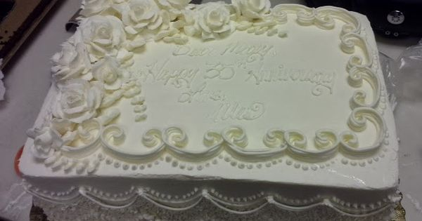 25th Wedding Anniversary Sheet Cakes Elegant Anniversary