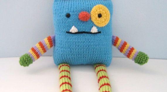 Amigurumi Knits Download : Amigurumi Knit Monster Pattern Digital Download ...