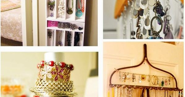 aufbewahrung f r schmuck diy ideen schmuckst nder selber bauen home pinterest jewelry. Black Bedroom Furniture Sets. Home Design Ideas