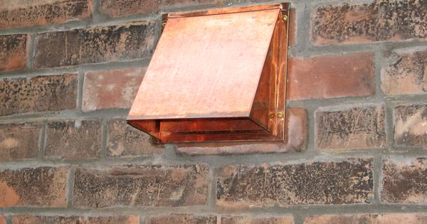 Copper Dryer Vent Installed On Brick This Vent Was Newly Installed And Is Just Starting To