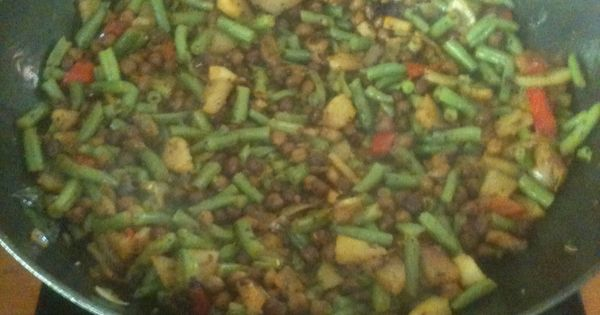 peas, green beans and potatoes dry stir-fry   Green Beans, Green Beans ...