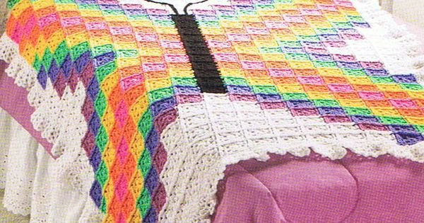 BRILLIANT BUTTERFLY Pretty Granny Square Afghan CROCHET by ...