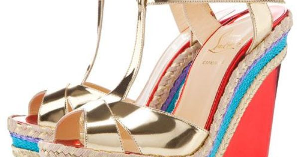 Cozy Louboutin Wedges Prepared | Christian Louboutin Outlet Sale