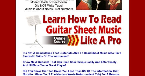 learn to read guitar sheet music like a pro 8 week course review get full review http. Black Bedroom Furniture Sets. Home Design Ideas