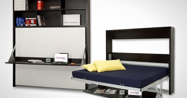 Dotto bookcase desk bed 10 murphy beds that maximize for Murphy beds for small spaces