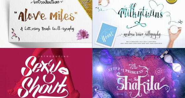 10 Fonts Bundle Calligraphy – Calligraphy Script