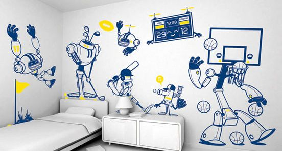 25 Diy Wall Painting Ideas For Your Home The Design Inspiration Kid Room Decor Diy Wall Painting Wall Stickers Kids