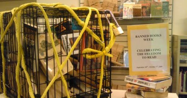 Banned books week library display banned books week for Mirror quotes in fahrenheit 451