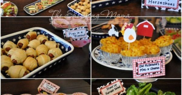 farm party food | farm birthday party food