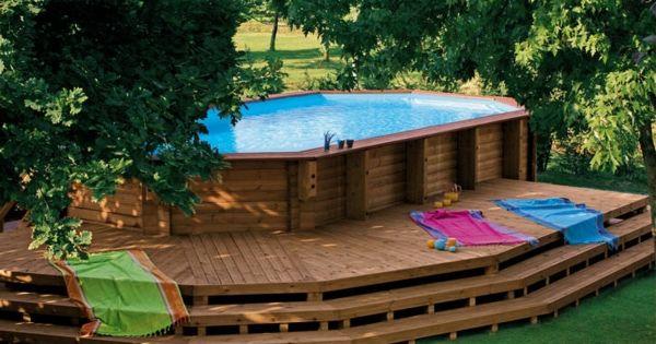 Le piscine hors sol en bois 50 mod les for Cash piscine 21