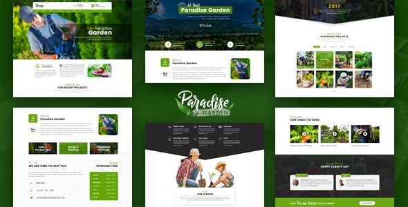 Paradise Garden Gardening And Landscaping Html Template Is Designed Specially For Gardening Landscaping Companies L Paradise Garden Gardening Blog Paradise