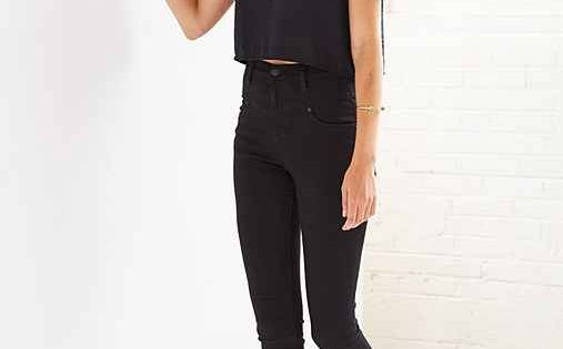BDG Seamed High-Rise Jean - Black - Urban Outfitters I love crop