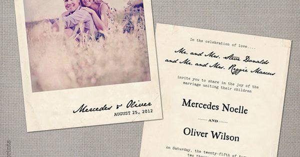 Polaroid einladungen and retro hochzeiten on pinterest - Polaroid karten ...