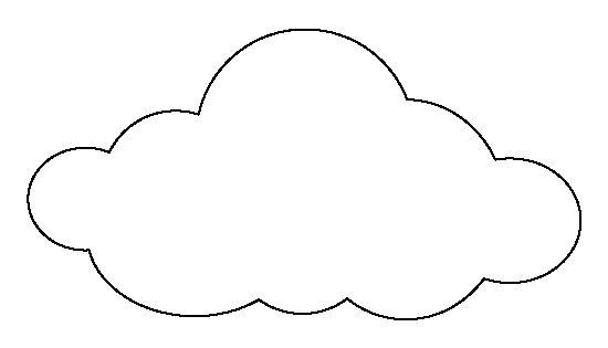 cloud stencil printable
