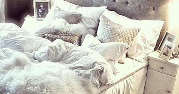 Luxe white and grey bedroom