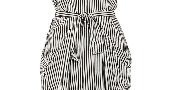BCBG Draped striped silk dress/ love this