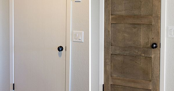 DIY Salvaged Wood Door
